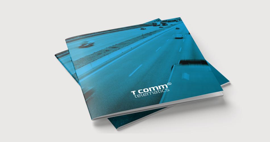 Brochure ontwerp T-comm