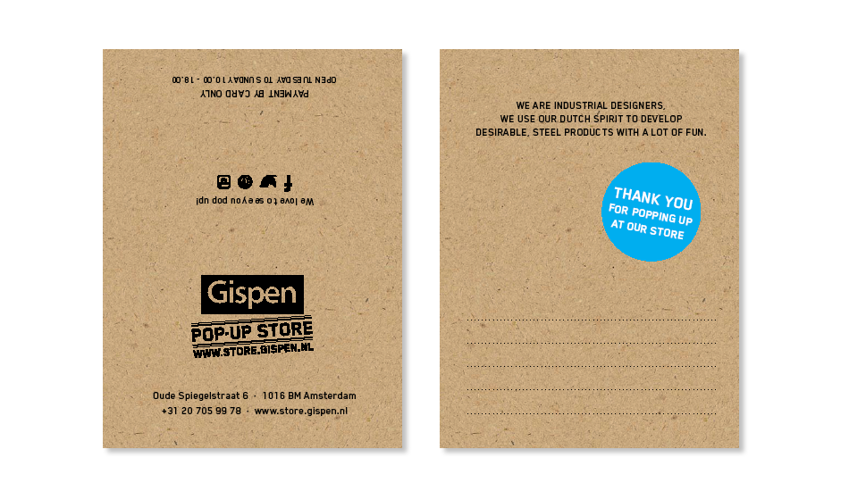 Branding Gispen pop up