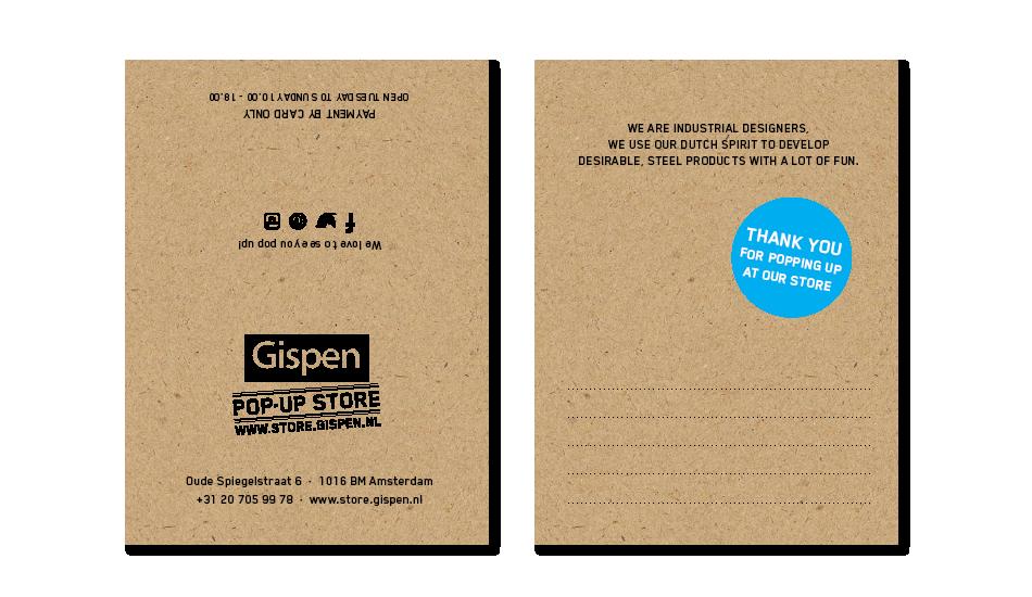 Branding Gispen pop up