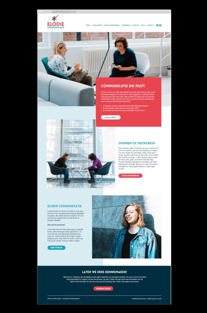 Elodie Communicatie website